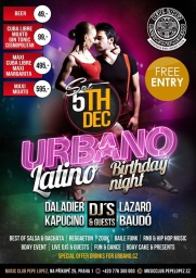 URBANO LATINO BIRTHDAY NIGHT